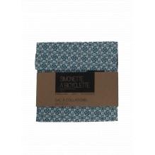 Pochette en coton à collations - 14 x 14 cm - Fleurs bleues