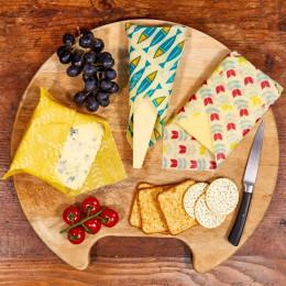 Emballages alimentaires à la cire d'abeille - Trio Cheese collection