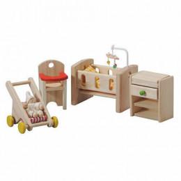 Chambre bébé en bois pour maison poupée - à partir de 3 ans
