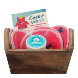 Kit de lingettes démaquillantes lavables - Libellules roses