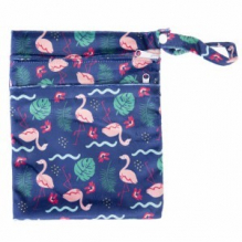 Sac pochette imperméable doubles poches - moyen - Flamants roses