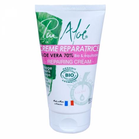 Crème réparatrice à l'aloe vera 70% BIO 150 ml