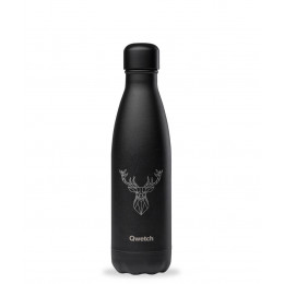 Bouteille nomade isotherme All Black Animal Tattoo - 500 ml - Cerf