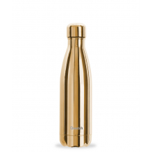 Bouteille nomade isotherme - 500 ml - Metallic gold + housse en coton
