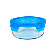 Bol à repas en verre trempé avec couvercle  - 720 ml