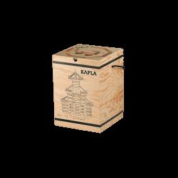 Mallette en bois avec 280 kaplas + 1 livre d'art beige - à partir de 4 ans