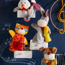 Marionnette sonore Chien musicien HABA