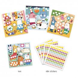Stickers pour les petits - Avec des gommettes rondes
