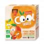 Cool Fruits - Pomme Pêche Abricot - 4 gourdes