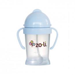 Gobelet avec paille  Sans BPA ni phtalate - Bleu pâle - 180 ml
