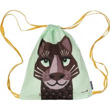 Sac d'activités enfant en coton BIO - Love Cats - Jaguar