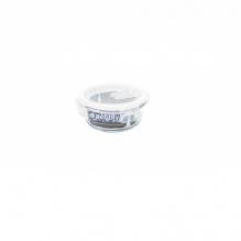 Plat rond en verre avec couvercle - 400 ml