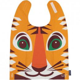 Grande serviette - bavoir - coton organique - motif tigre
