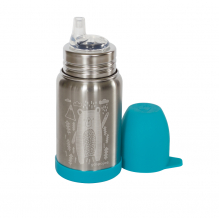 Gourde Sippy Inox - gravure Ours bleu glacier - 350 ml