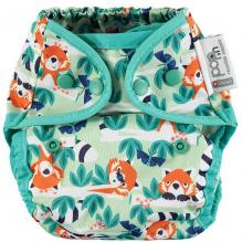 Culotte de protection pour couches lavables - Taille unique pressions - Panda roux
