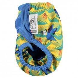 Culotte de protection pour couches lavables - Taille unique velcros - Perroquets