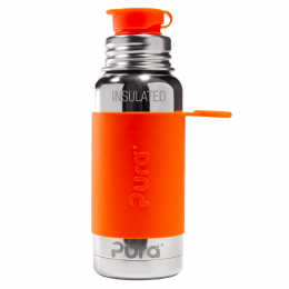 Gourde isotherme inox - modèle sport - 475 ml - Orange