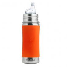 Biberon évolutif inox 325 ml bec de transition - Orange