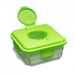 Boîte Mucky pour lingettes sales Couvercle vert pomme