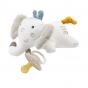 Accroche tétine en coton bio - Eléphant