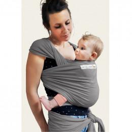 Echarpe porte-bébé basic - Gris flanelle