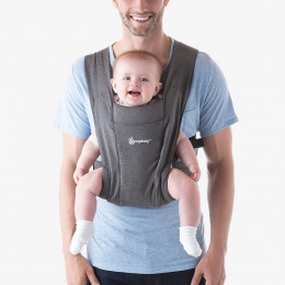 Porte-bébé Baby Carrier New born + Embrace - Heather Grey