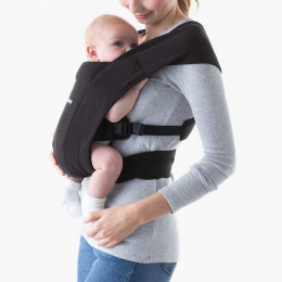 Porte-bébé Baby Carrier New born + Embrace - Pure Black