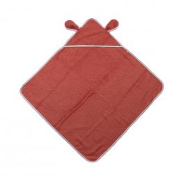 Cape de bain avec capuchon à oreilles - Coton Bio - Cayenne