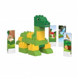 Dino brontosaure - 34 blocs de construction  - à partir de 18 mois