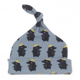 Bonnet en coton BIO - Taupe bleu