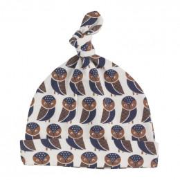Bonnet en coton BIO - Hiboux navy