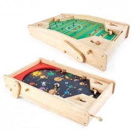 2in1 Pinball Planet et Flipper Football en bois - à partir de 6 ans