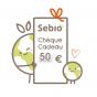 Chèque cadeau virtuel de 50 € - version électronique