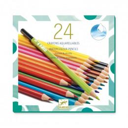 24 crayons aquarellables