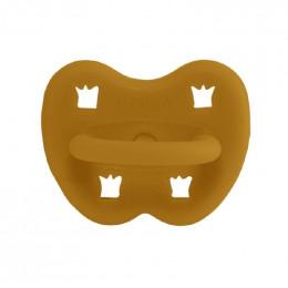 Tétine orthodontique en caoutchouc - Couronnes - 3 -36 mois - Curcuma