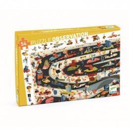 Puzzle observation - Rallye automobile - 54 pces