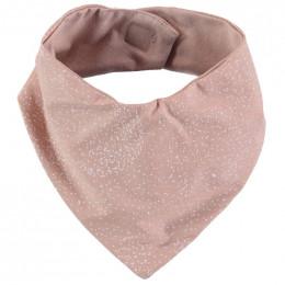 Bavoir bandana Lucky - White bubble & Misty pink