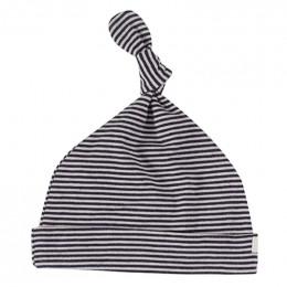 Bonnet - Rayures fines - marin