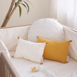 Tour de lit Nest - Honey sweet dots natural