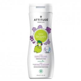 2 en 1 Shampooing et gel nettoyant - Little leaves -  vanille et poire - 473 ml