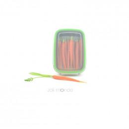 Boîte de conservation en inox avec couvercle étanche à clips - 870 ml