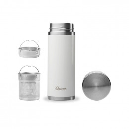 Théière nomade isotherme en inox 400 ml - Blanc brillant