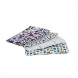 4 mouchoirs en coton Léonie - S - 20 x 20 cm
