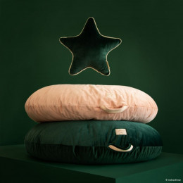 Pouf Sahara velvet - Jungle green