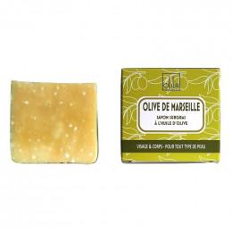 Savon végétal naturel fabriqué main Olive de Marseille
