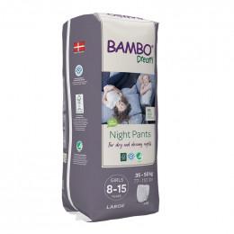 10 culottes de nuit Bambo Dreamy - 35 à 50 kg - Girls