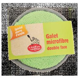 Galet microfibre double face spécial pierre d'argile !