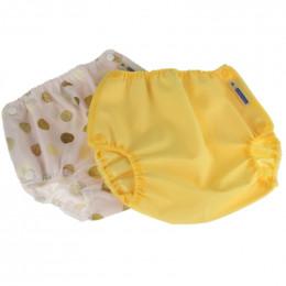 Culotte de protection Air flow -  Lot de 2 - Large - Jaune et Pois