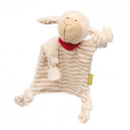 Doudou Nature - Mouton rayé beige