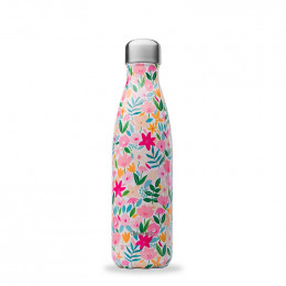 Gourde bouteille nomade isotherme - 500 ml - Flora rose
